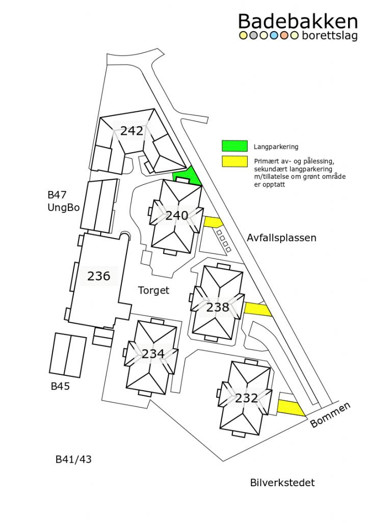 Kart over borettslaget
